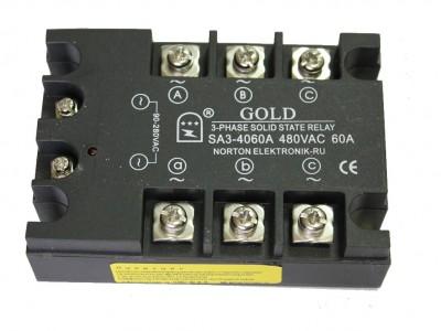 Твердотельные реле SA3-40 и SA3-66 (трехфазные, управление АС)