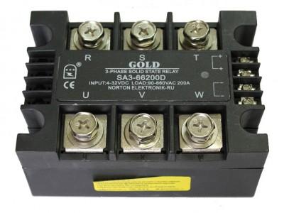 Твердотельные реле SA3-40 и SA3-66  (трехфазные, управление DC)
