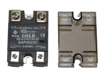 Однофазные твердотельные реле SAP-40A (коммутация при переходе тока через ноль 90-280V AC)