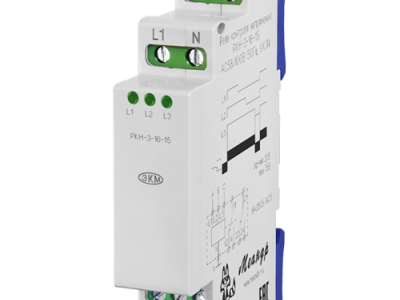 Реле контроля трехфазного фазного напряжения типа РКН-3-16-15