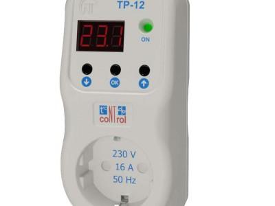 Терморегулятор с функцией реле напряжения ТР-12 ( включается в розетку )